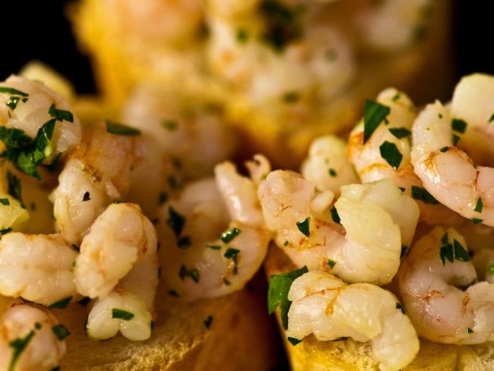 Ricetta Crostini con Gamberi Rossi della Sicilia - Ricette Online di Mario Betto, Cuoco di Venezia